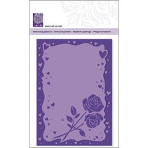 Embossing folders with heart frame and roses