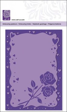 embossing Präge Folder Goffratura cartelle con telaio cuore e le rose