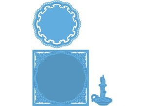 Marianne Design Cutting and embossing stencils, 2 and 1 frame Candlestick