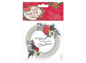 Docrafts / Papermania / Urban Transparent stamps, doily label