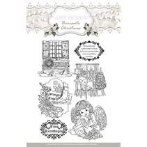I timbri trasparenti, Amy design, motivi di Natale ed angelo