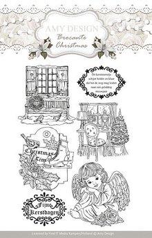 Amy Design Gennemsigtige frimærker, Amy design, julemotiver og engel