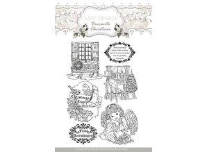 Amy Design sellos transparentes, Amy Diseño, motivos de navidad y ángel