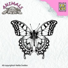 Nellie snellen Transparent stamp, butterfly