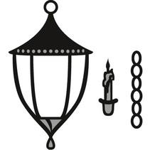 Skæring og prægning stencils Marianne Design, lanterne og stearinlys