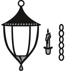 Marianne Design Taglio e goffratura stencil Marianne Design, lanterna e la candela