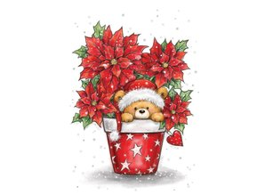 Wild Rose Studio`s A7, francobolli trasparente, Natale Teddy