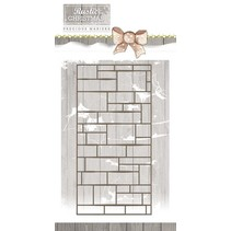 Stamping template, wall, size approx 7.4 x 14.7 cm