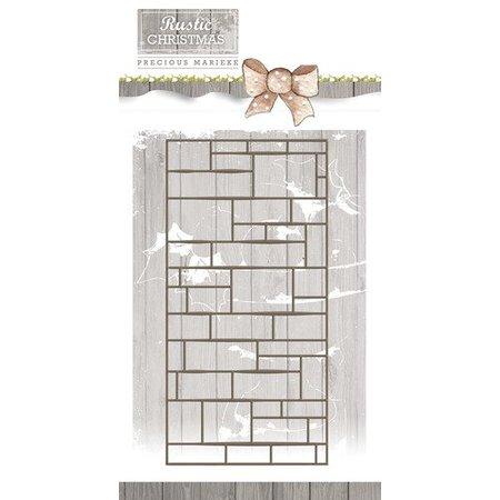 Precious Marieke Stempling skabelon, væg, størrelse ca 7,4 x 14,7 cm
