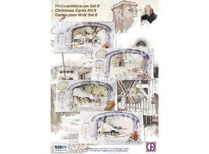 BASTELSETS / CRAFT KITS: Komplette Kits, til 4 Julekort