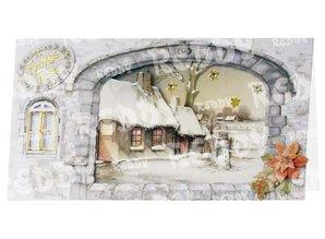 BASTELSETS / CRAFT KITS: Kits completos, para 4 Tarjetas de Navidad