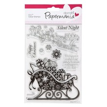 Stempel / Stamp: Transparent Transparent stamps, Christmas sleigh with gifts