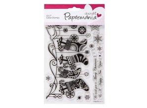 Stempel / Stamp: Transparent Gennemsigtige frimærker, jul sokker