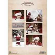 Hoja de Decoupage muchacha de la Navidad de la vendimia