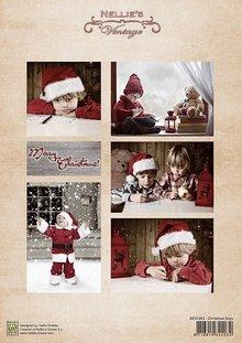 Nellie snellen Decoupage sheet vintage Christmas girl