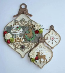Joy!Crafts und JM Creation Palla di Natale in 3 diverse dimensioni