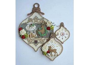 Joy!Crafts und JM Creation Bola de Navidad en 3 diferentes tamaños