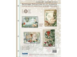 BASTELSETS / CRAFT KITS: Craft wallet for designing 8 Christmas cards