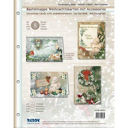 BASTELSETS / CRAFT KITS: Craft tegnebog for at designe 8 julekort