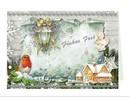 BASTELSETS / CRAFT KITS: Bastelmappe zur Gestaltung von 8 Weihnachtskarten
