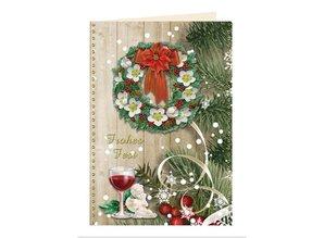 BASTELSETS / CRAFT KITS: Billetera Craft para el diseño de 8 tarjetas de Navidad