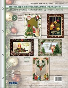 BASTELSETS / CRAFT KITS: Craft wallet for designing 8 edele Christmas Cards
