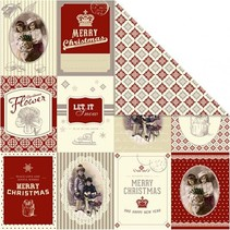 Designerpapier 30,5 x 30,5cm, Weihnachtsmotive