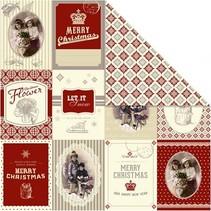 Ontwerper papier 30,5 x 30,5 cm, kerst motieven