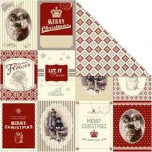 Designer Papier Scrapbooking: 30,5 x 30,5 cm Papier Designer papir 30,5 x 30,5 cm, julemotiver