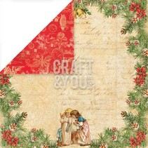 "Designer papir 30,5 x 30,5 cm, Christmas ""Christmas Story 2 '"
