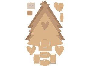 Objekten zum Dekorieren / objects for decorating Árbol de MDF de Navidad con caja de música