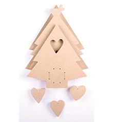 Objekten zum Dekorieren / objects for decorating MDF juletræ med spilledåse