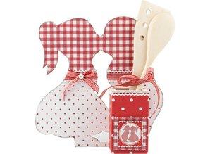 Objekten zum Dekorieren / objects for decorating MDF Set: Stand, Kissing dreng & pige