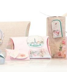 """Dekoration Schachtel Gestalten / Boxe ... Bastelset für 14 Verpackungen """"Tres Chic"""" + Labels"""