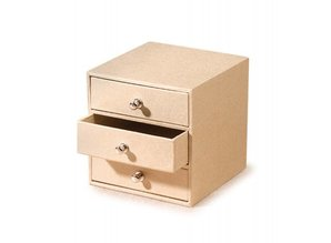 Objekten zum Dekorieren / objects for decorating Pappschubladenbox med 3 rum, natur