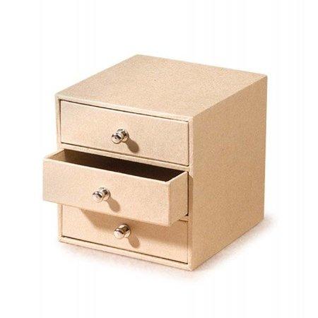 Objekten zum Dekorieren / objects for decorating Pappschubladenbox mit 3 Fächern, natur