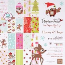 Designer paper 20.3 x 20.3 cm, Christmas motifs