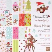 Designer papir 20.3 x 20,3 cm, julemotiver