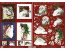 BILDER / PICTURES: Studio Light, Staf Wesenbeek, Willem Haenraets Christmas Cards Set: 3D Die cut sheets, Santas, including 4 double cards