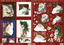 BILDER / PICTURES: Studio Light, Staf Wesenbeek, Willem Haenraets Julekort Set: 3D udstanset ark, julemænd, herunder 4 dobbelt kort