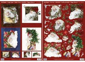 BILDER / PICTURES: Studio Light, Staf Wesenbeek, Willem Haenraets Christmas Cards Set: 3D Die cut sheets, Santas, including 4 double cards