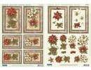 BASTELSETS / CRAFT KITS: Weihnachtskarten Set: 3D Stanzbogen, Weihnachtsstern inklusive 4 Doppelkarten