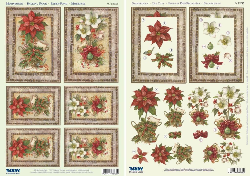 weihnachtskarten set 3d stanzbogen weihnachtsstern. Black Bedroom Furniture Sets. Home Design Ideas