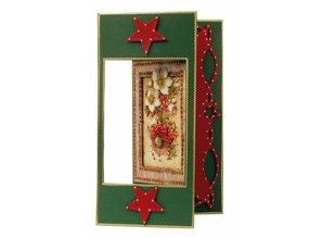 BASTELSETS / CRAFT KITS: Julekort Set: 3D udstanset ark, julestjerne, herunder 4 dobbelt kort