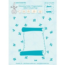 "Embossing Folder ""Roll of parchment,"" Leane Creatief"