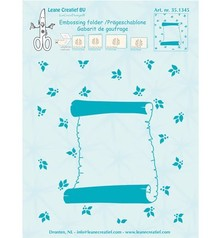 "Leane Creatief - Lea'bilities Embossing Folder ""Roll of parchment,"" Leane Creatief"
