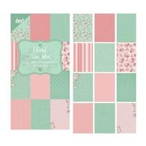 "Designer Paper Block 15 x 30 cm, ""Blomster (grøn)"""
