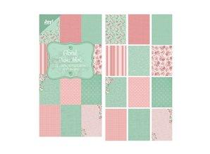 """Joy!Crafts und JM Creation Diseñador Papel Bloque 15 x 30 cm, """"Floral (verde)"""""""