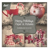 "Papierblock 10 x 10 cm, ""Happy Holidays"""
