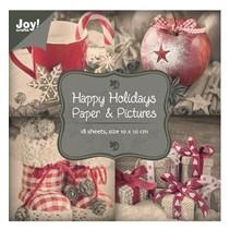"Papir blok 10 x 10 cm, ""Happy Holidays"""